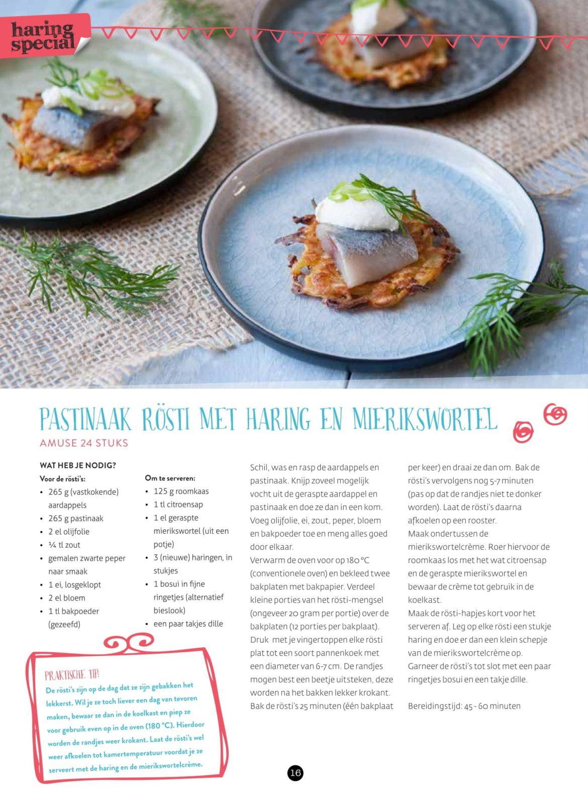 VisCulinair Magazine Pastinaak rosti met haring