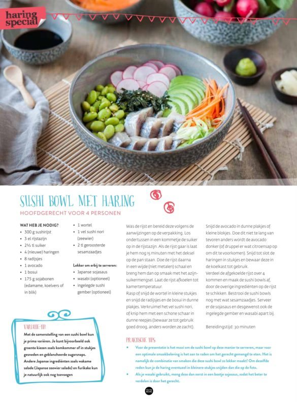 VisCulinair Magazine Sushi Bowl met haring
