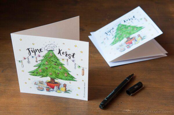 kaart Kerstboom kaaskoekjes KeukenAtelier.com