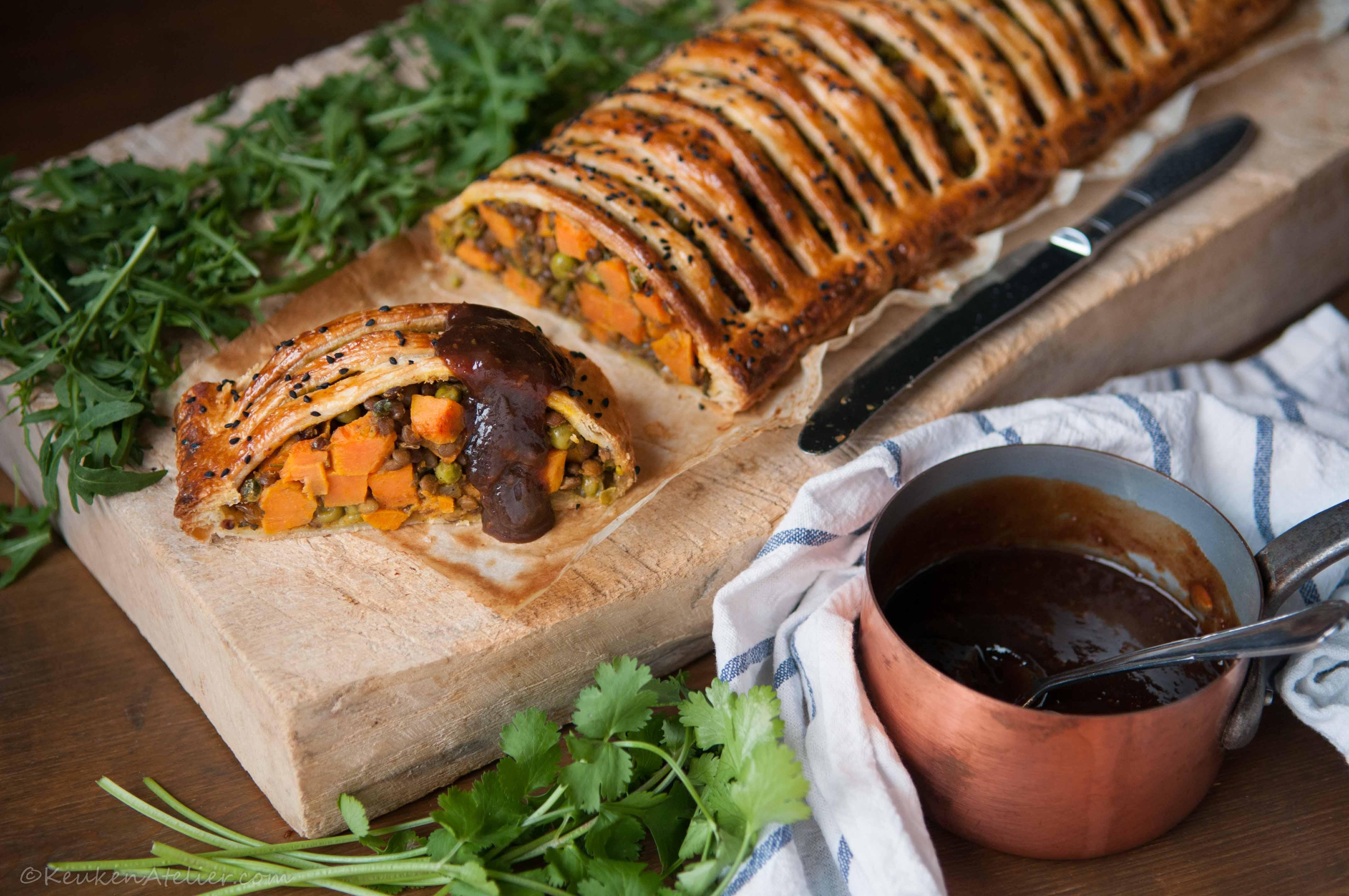 Vegetarische curry strudel met zoete aardappel en linzen 2 | KeukenAtelier.com