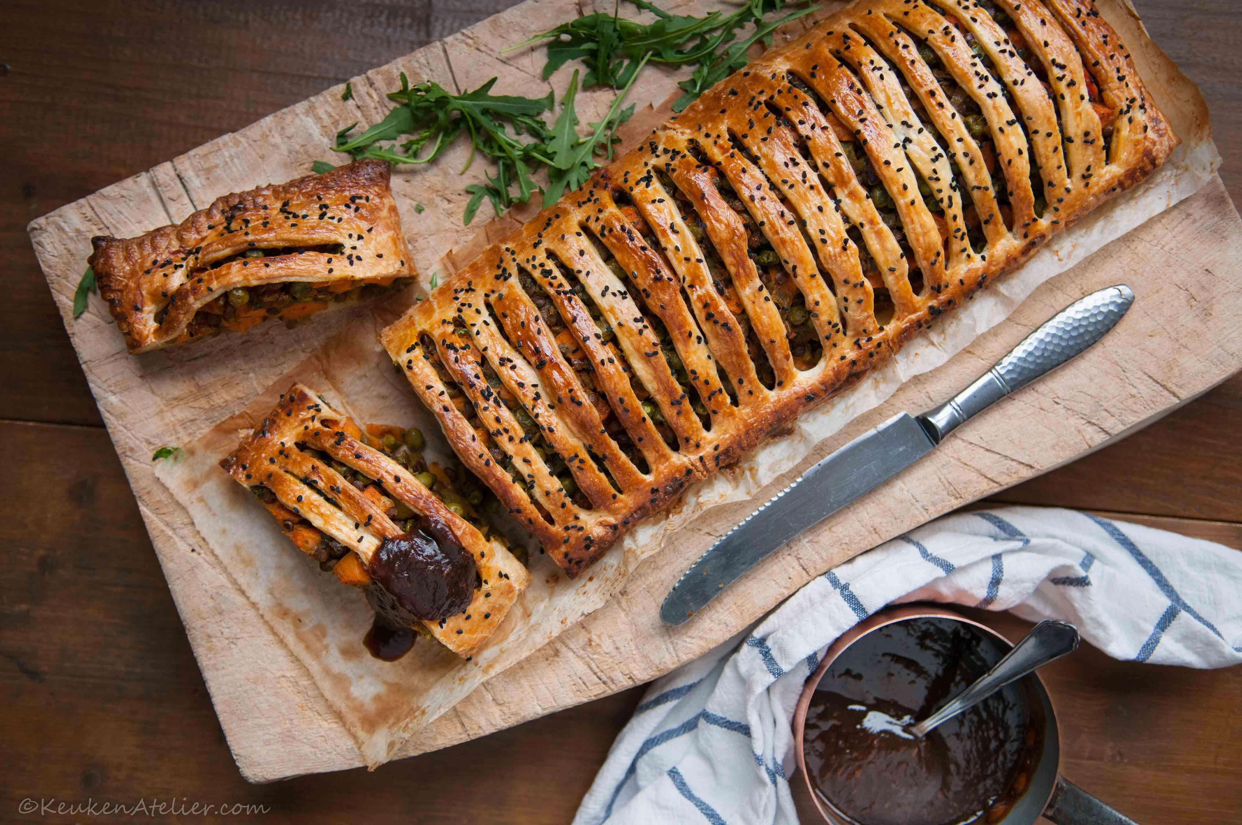 Vegetarische curry strudel met zoete aardappel en linzen 3 | KeukenAtelier.com