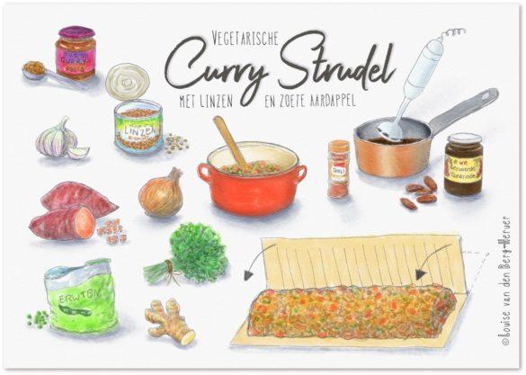 illustratie curry strudel schaduw KeukenAtelier.com