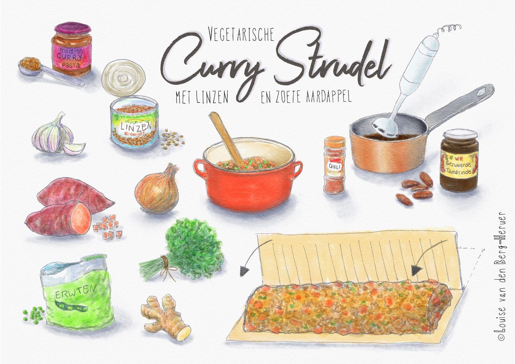 illustratie curry strudel KeukenAtelier.com