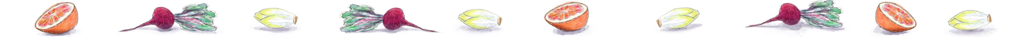 salade met bloedsinaasappel illustratie | KeukenAtelier.com