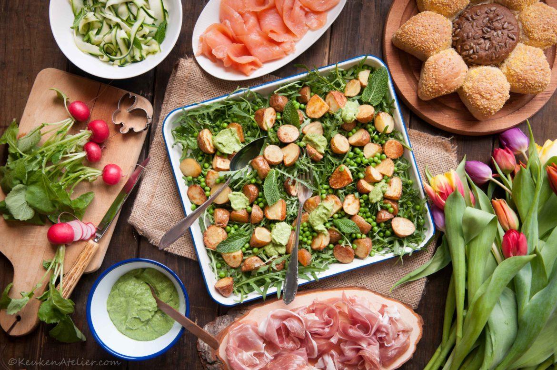 Salade met krieltjes en avocado 2 KeukenAtelier.com