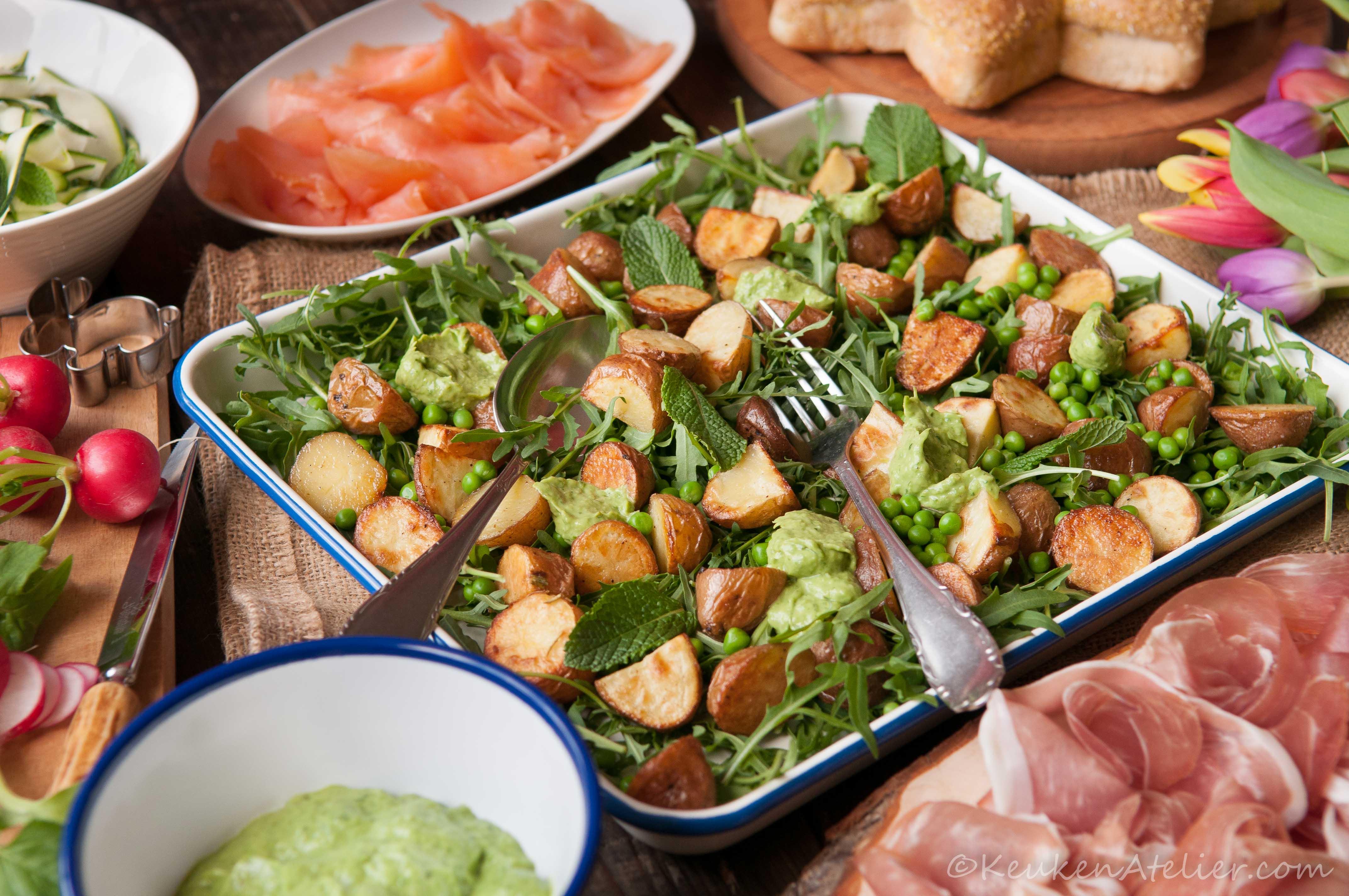 Salade met krieltjes en avocado 3 KeukenAtelier.com
