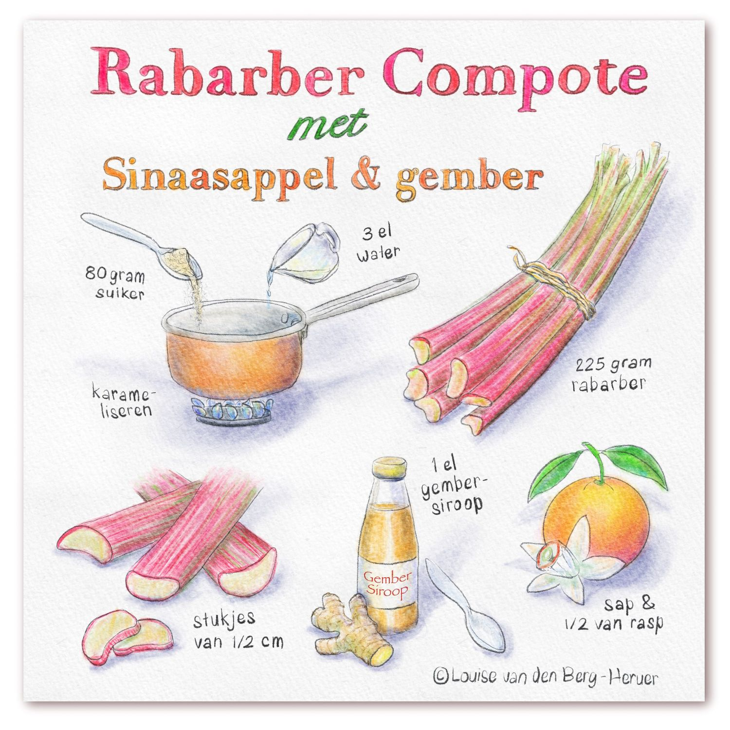 Illustratie rabarbercompote