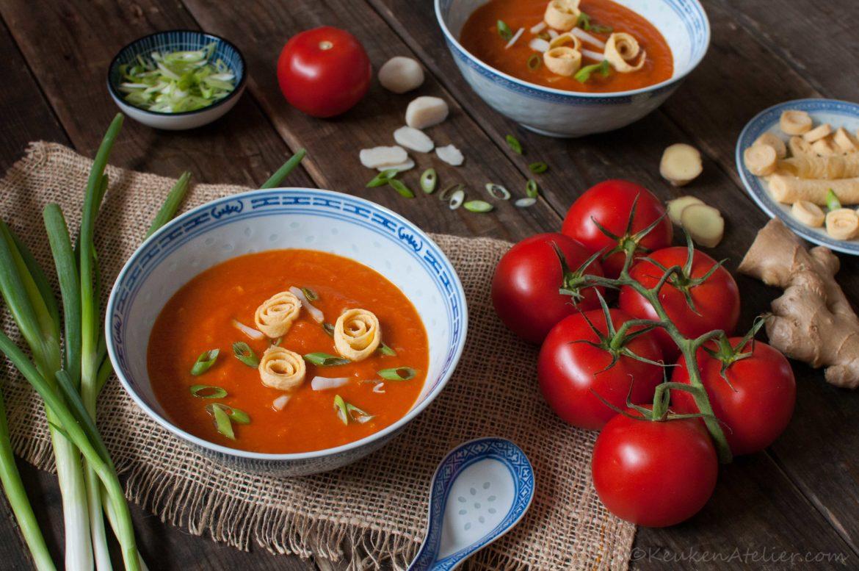 Chinese tomatensoep (meer groente, minder suiker)