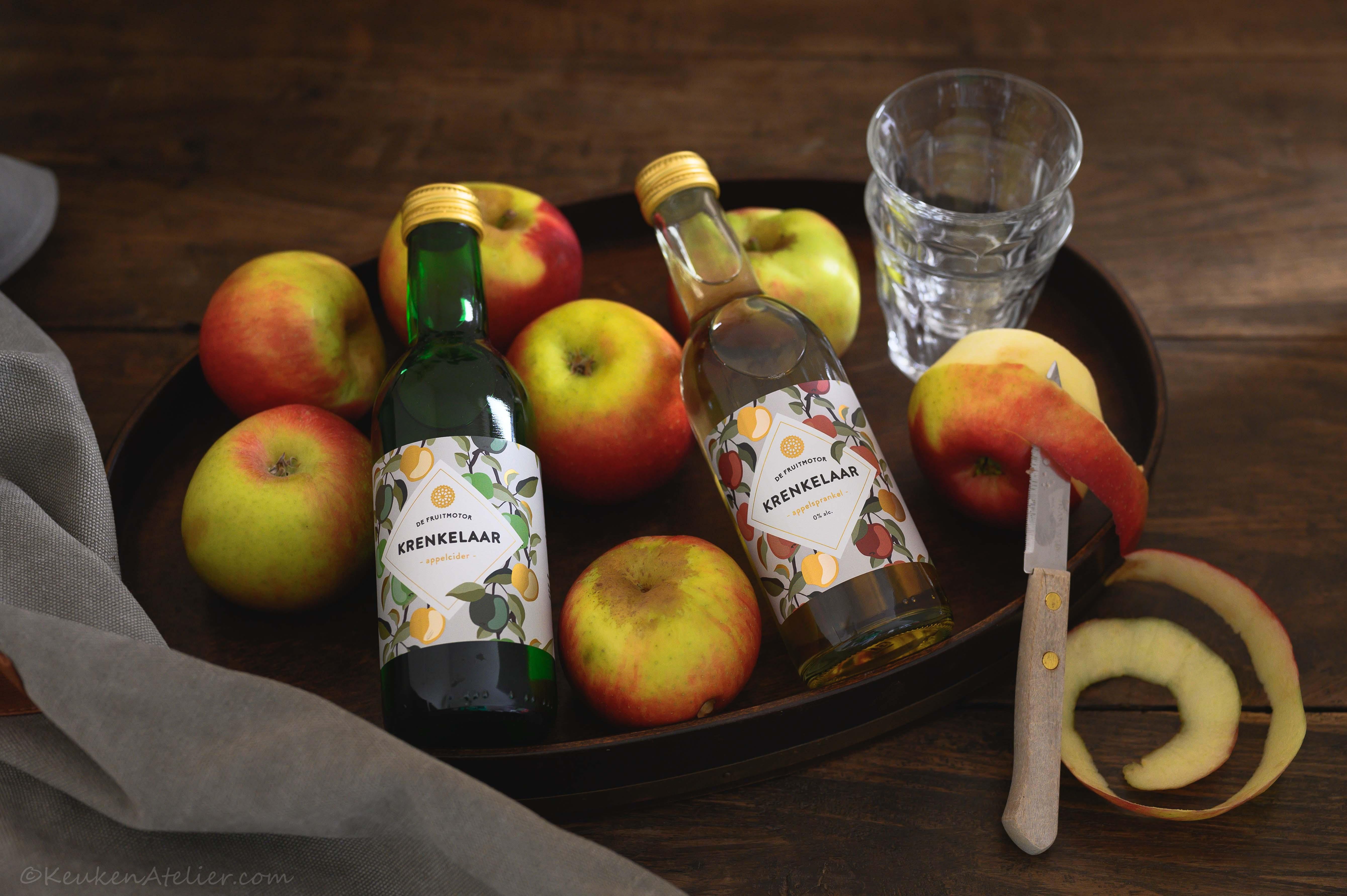 Krenkelaar appelcider en appelsprankel