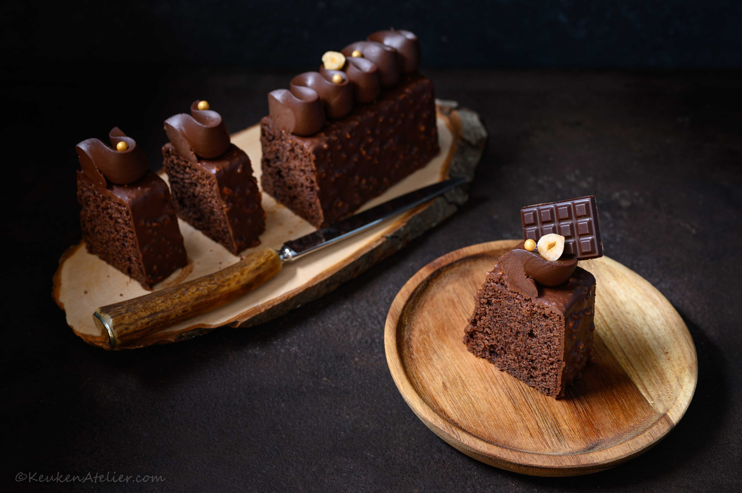 Mini cake met chocolade