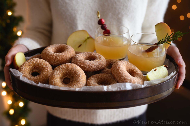 Vegan appeldonuts
