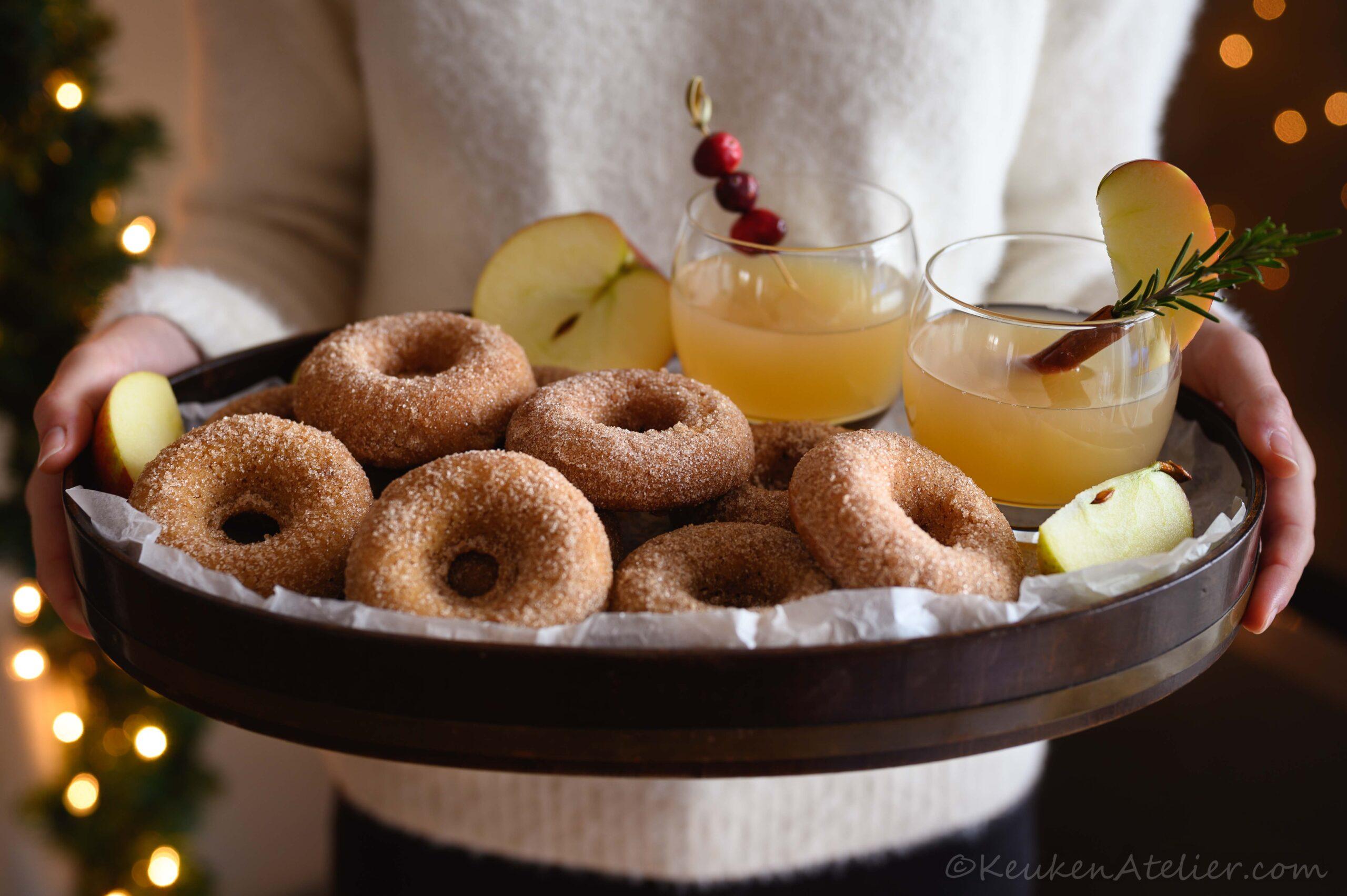Vegan appel donuts