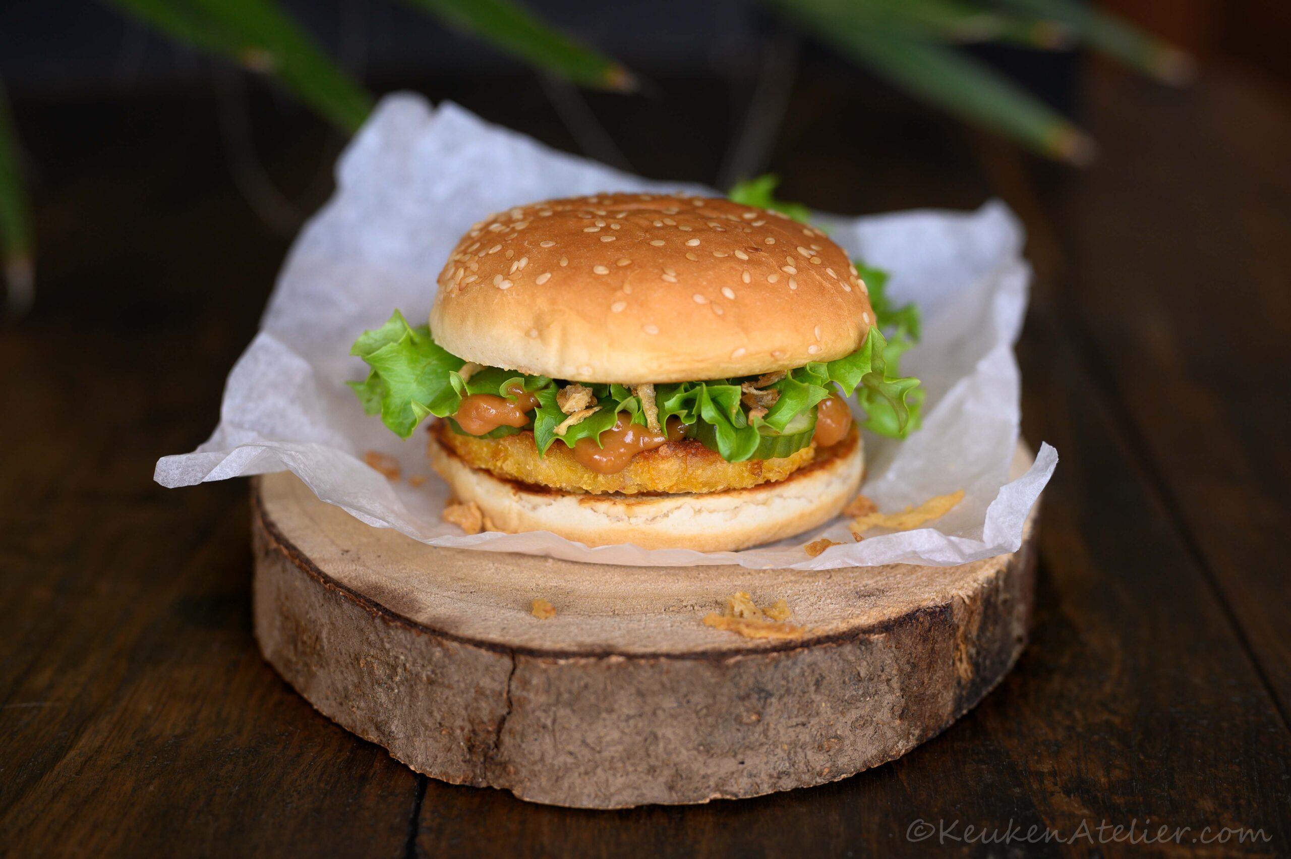 kipsaté burger (vega)
