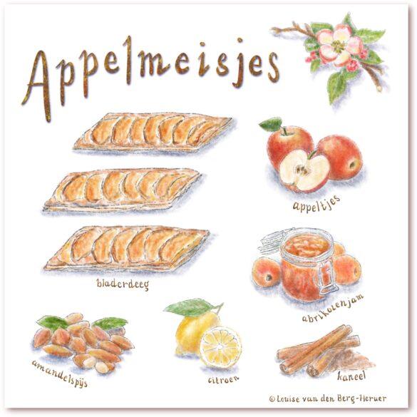 Appelmeisjes illustratie
